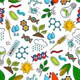 Rolnictwo, nauka, genetyka bezszwowy wzór Obraz Royalty Free