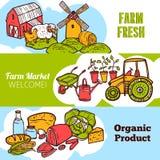 Rolnictwo sztandaru set Obraz Royalty Free
