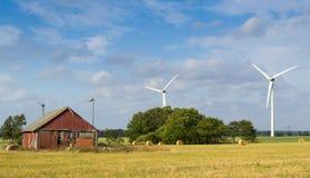 Rolnictwo szwedzki krajobraz Zdjęcie Royalty Free