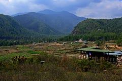 Rolnictwo w Bhutan Fotografia Royalty Free