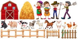 Rolnicy i zwierzęta gospodarskie Fotografia Royalty Free