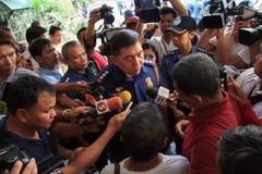 Rolnicy protestują w Manila, Filipiny obrazy royalty free
