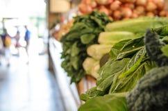 Rolnicy Wprowadzać na rynek jarzynowej sałaty zdjęcia stock