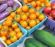 rolnicy wprowadzać na rynek sprzedaży warzywa Zdjęcie Royalty Free