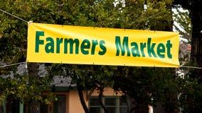 Rolnicy Wprowadzać na rynek Sztandar Obraz Royalty Free