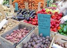 rolnicy wprowadzać na rynek plenerowego Obrazy Royalty Free