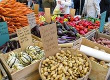 rolnicy wprowadzać na rynek plenerowego Fotografia Royalty Free