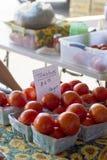 Rolnicy wprowadzać na rynek pomidory Fotografia Royalty Free