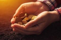 Rolnicza produktywność, pieniądze fedrunek i dochód po żniwa, fotografia royalty free