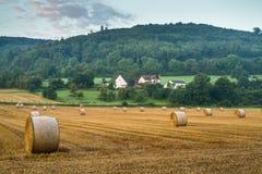 rolnicze piękne siana krajobrazu rolki Zdjęcia Stock