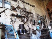 Rolniczy muzeum w Grazzano Visconti zdjęcia stock
