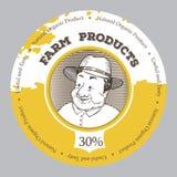 Rolniczy wz?r ptaka rocznik ?liczny ilustracyjny ustalony Stary człowiek z rolnika s kapeluszem royalty ilustracja