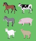rolniczy zwierzęta Obrazy Royalty Free