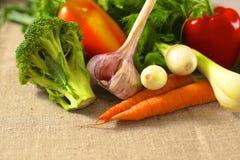 rolników świeżego rynku stołu warzywa drewniani zdrowa żywność dieta Zdjęcie Stock