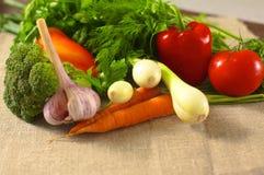 rolników świeżego rynku stołu warzywa drewniani zdrowa żywność dieta Fotografia Stock