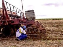 Rolnik ajusted plantator Zdjęcie Stock