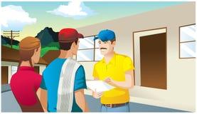 Rolnik negocjaci mężczyzna i kobieta ilustracja wektor