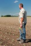 rolnik odpowiada działanie fotografia stock