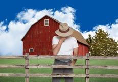rolnik smutny Zdjęcia Royalty Free
