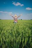 Rolnik w polu obrazy royalty free