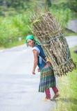 Rolnik w wiejskim Wietnam zdjęcie royalty free