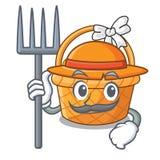 Rolnika Easter koszykowa piłka w kreskówka kształcie royalty ilustracja