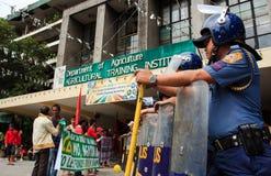 Rolnika protest w Manila, Filipiny Zdjęcie Royalty Free