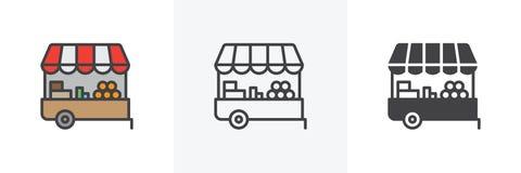 Rolnika rynku kramu ikona ilustracja wektor