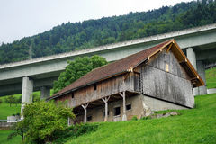 Rolny dom i autostrada Obraz Stock