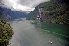 rolny geirangerfjord widzieć skageflaa Obraz Stock