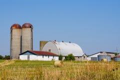 Rolny silos i stajnia Fotografia Royalty Free