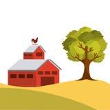 Rolny stajnia projekt royalty ilustracja