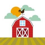 Rolny stajnia projekt ilustracji