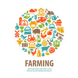 Rolny wektorowy loga projekta szablon horticulture lub Fotografia Stock