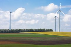 rolny wiatr Obrazy Royalty Free