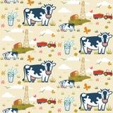 Rolnych krów bezszwowy wzór Fotografia Royalty Free