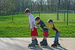 Rolo-Blading dos miúdos Foto de Stock Royalty Free