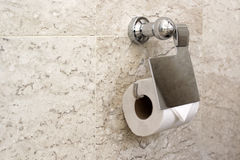 Rolo branco do papel higiênico foto de stock royalty free