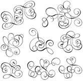 Rolo, cartouche, decoração, vetor Imagem de Stock Royalty Free