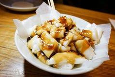Rolo chinês do macarronete de arroz do dim sum Fotos de Stock Royalty Free