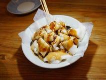 Rolo chinês do macarronete de arroz do dim sum Fotografia de Stock Royalty Free