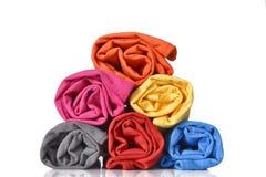 Rolo colorido da roupa fotos de stock royalty free
