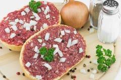 Rolo com carne de porco triturada Foto de Stock