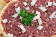 Rolo com carne de porco triturada Imagens de Stock Royalty Free