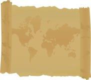 Rolo com o mapa do mundo Imagens de Stock Royalty Free