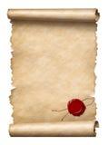 Rolo com selo da cera ilustração do vetor