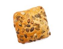 Rolo com sementes de abóbora Imagens de Stock Royalty Free