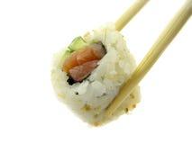 Rolo com um salmão. Fotos de Stock