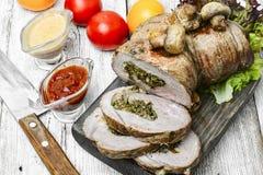 Rolo da carne da carne Fotos de Stock Royalty Free