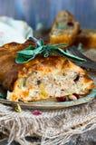 Rolo da carne de porco do sábio e do pistache Foto de Stock Royalty Free